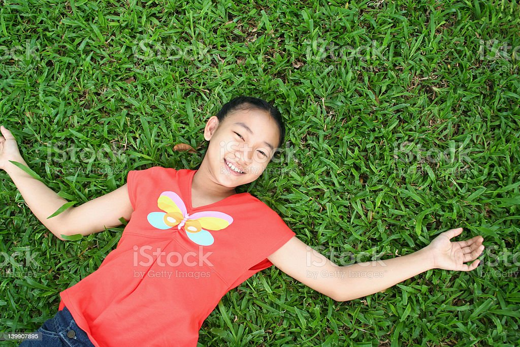 Asian teen royalty-free stock photo