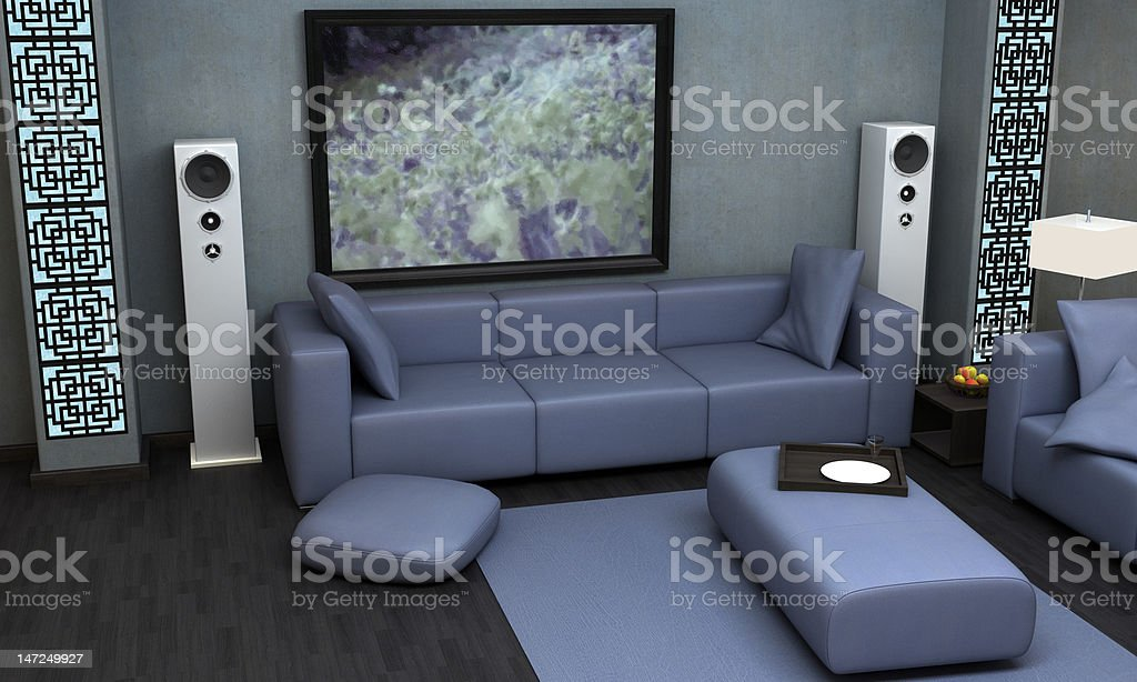 Asian Themed Living Room Stock Photo - Download Image Now ...