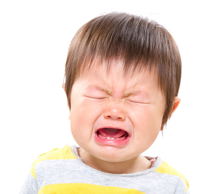 Asian baby boy crying Stock photo and royalty-free