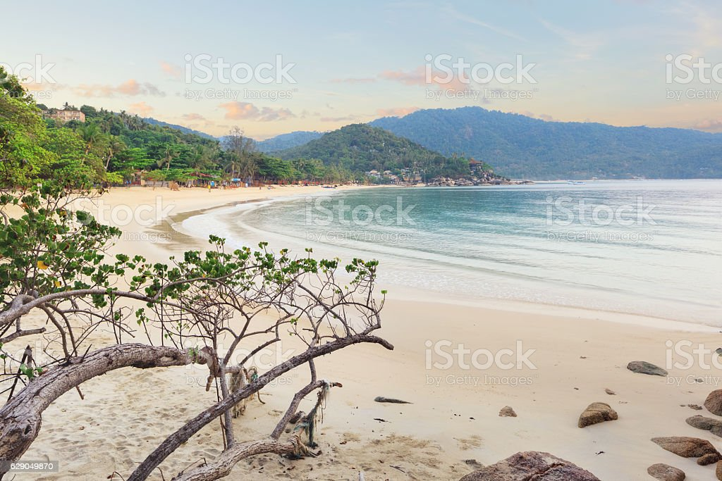 Asian tropical beach paradise stock photo