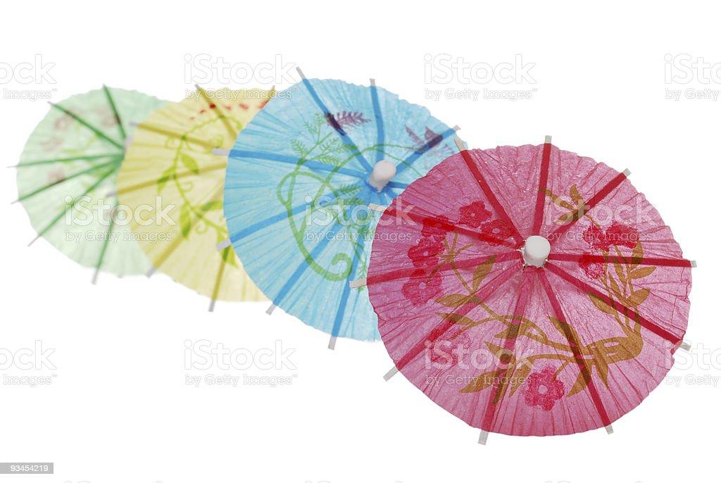 Asiatische Regenschirm in einer Reihe Lizenzfreies stock-foto