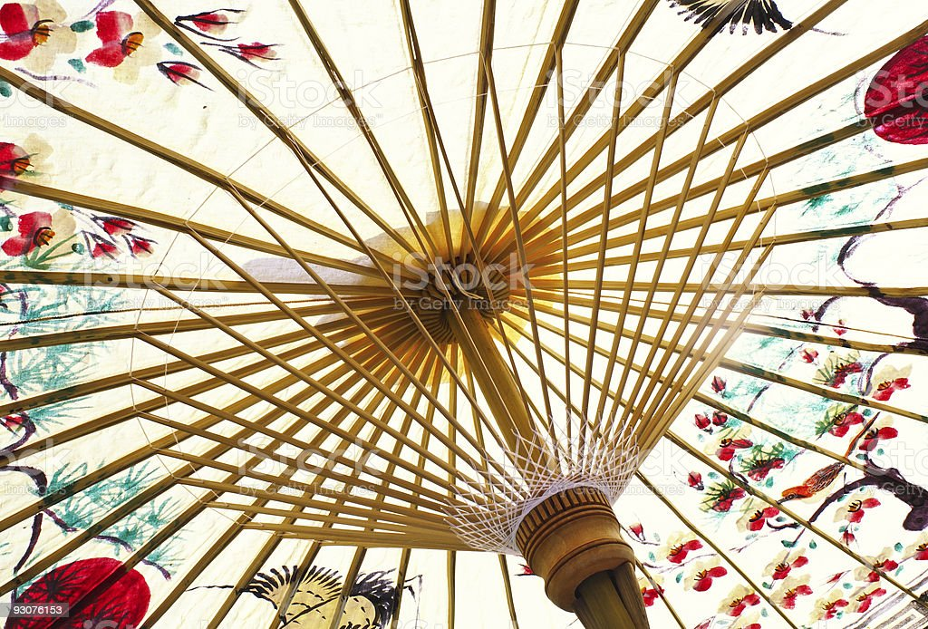 asian umbrella royalty-free stock photo
