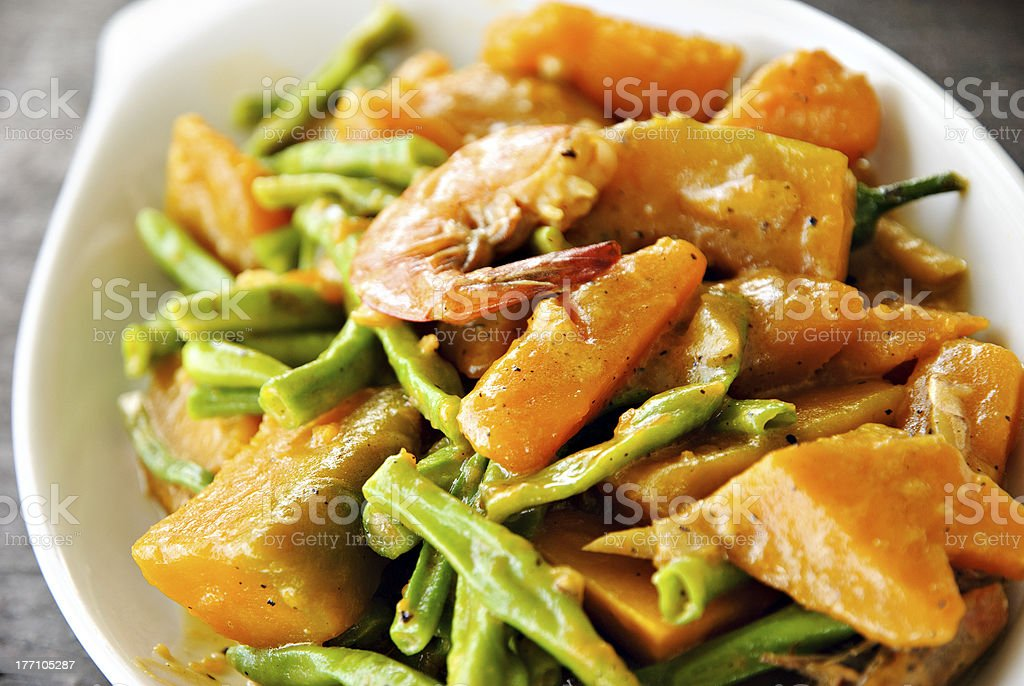 Asian Vegetable Cuisine in Coconut Milk stock photo