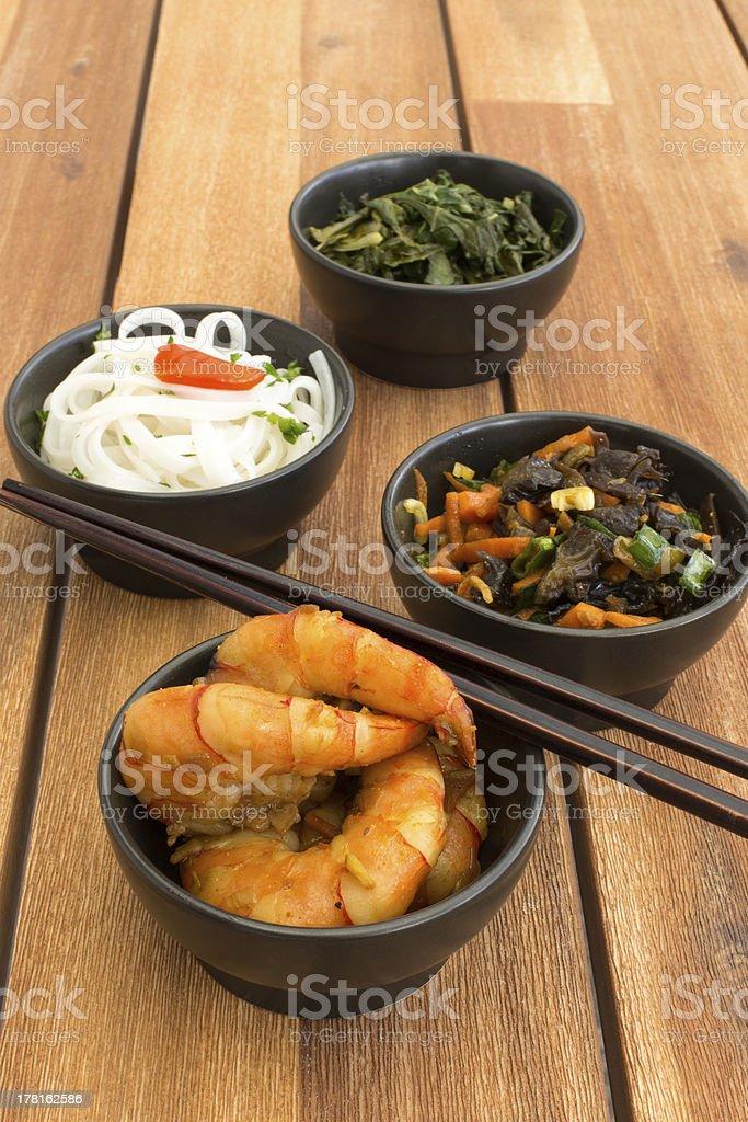 Asian vegetarian food royalty-free stock photo