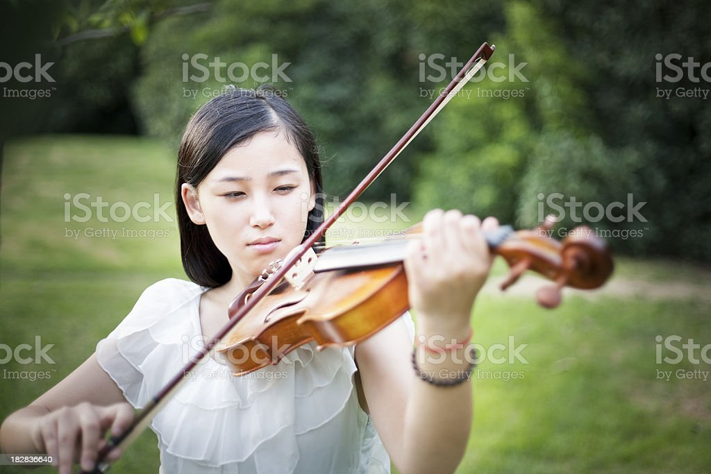 Asian Violinist royalty-free stock photo