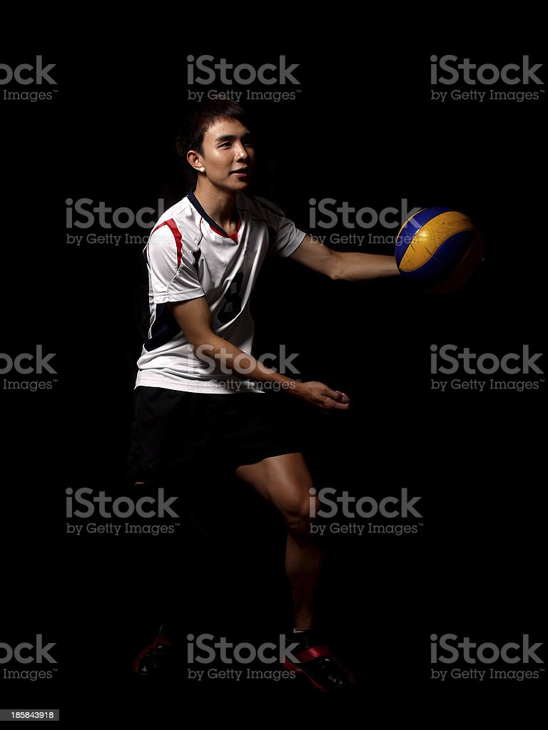Asian Volleyball Player royalty-free stock photo
