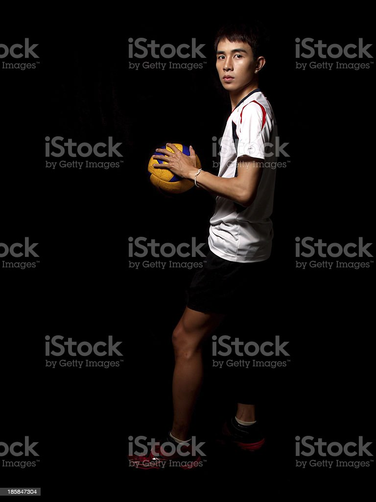 Asian Volleyball Player stock photo