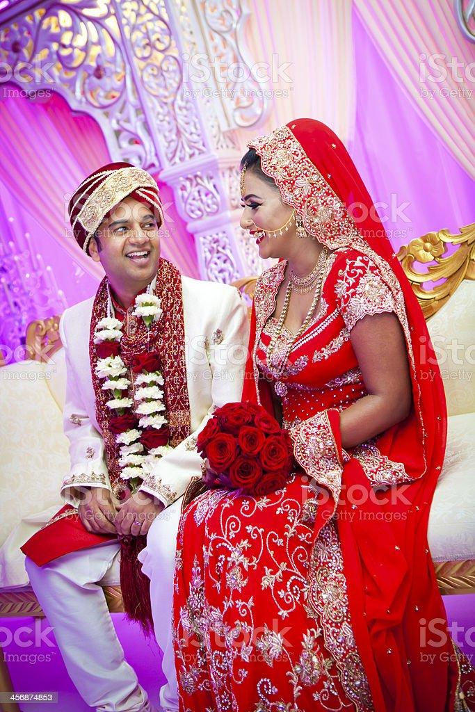 Asian wedding couple royalty-free stock photo