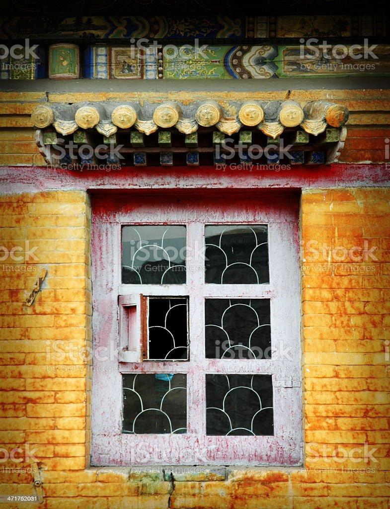 Asian Window royalty-free stock photo