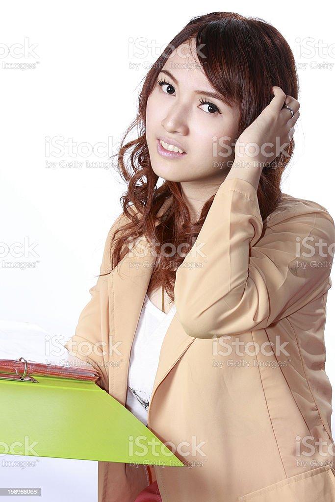 Asian woman an idea royalty-free stock photo