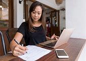 istock Asian woman applying for new job 1221798511
