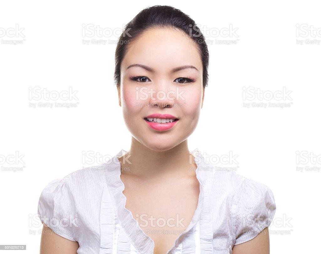 Asian woman bisness portrait stock photo