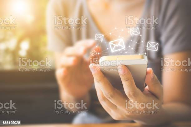 Asian woman hand using mobile phone with email application concept picture id866195028?b=1&k=6&m=866195028&s=612x612&h=xr3pzvhggvnb82y4 cyghhxy9o5zvd3hdjgsxe6 uzy=