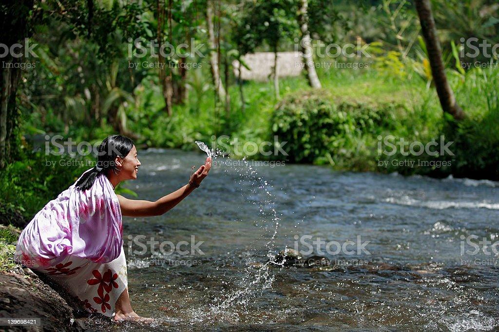 Asian Woman Having Fun royalty-free stock photo