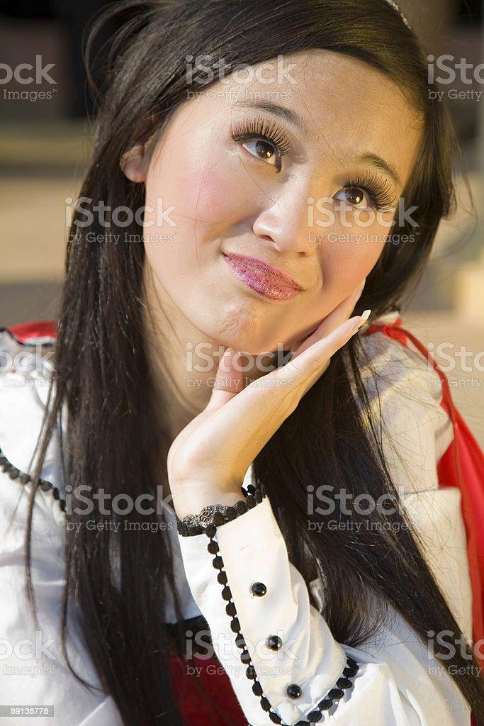 Asian woman in love stock photo