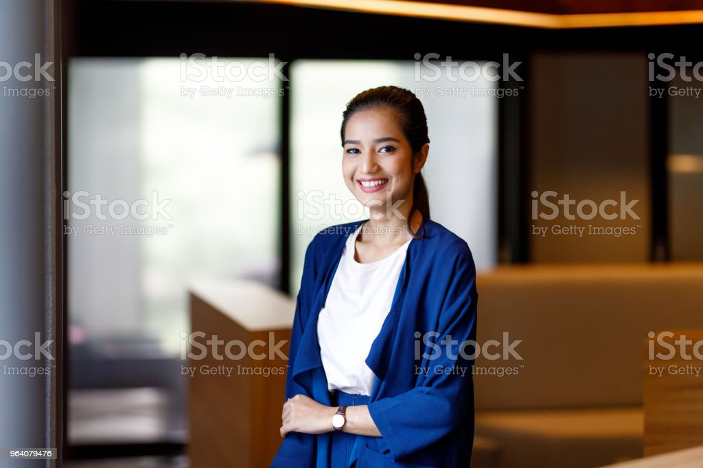 Asian Woman In Modern Office - Royalty-free Adult Stock Photo