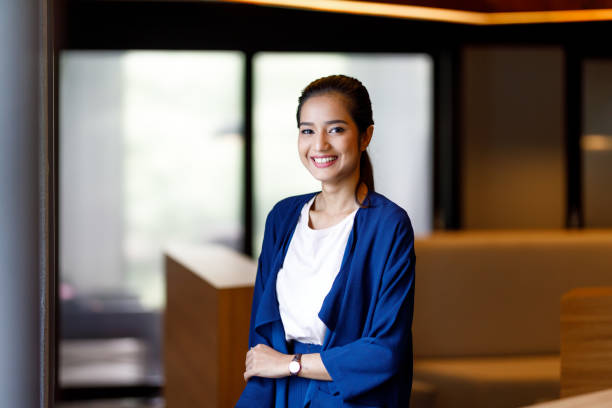 Asian Woman In Modern Office stock photo