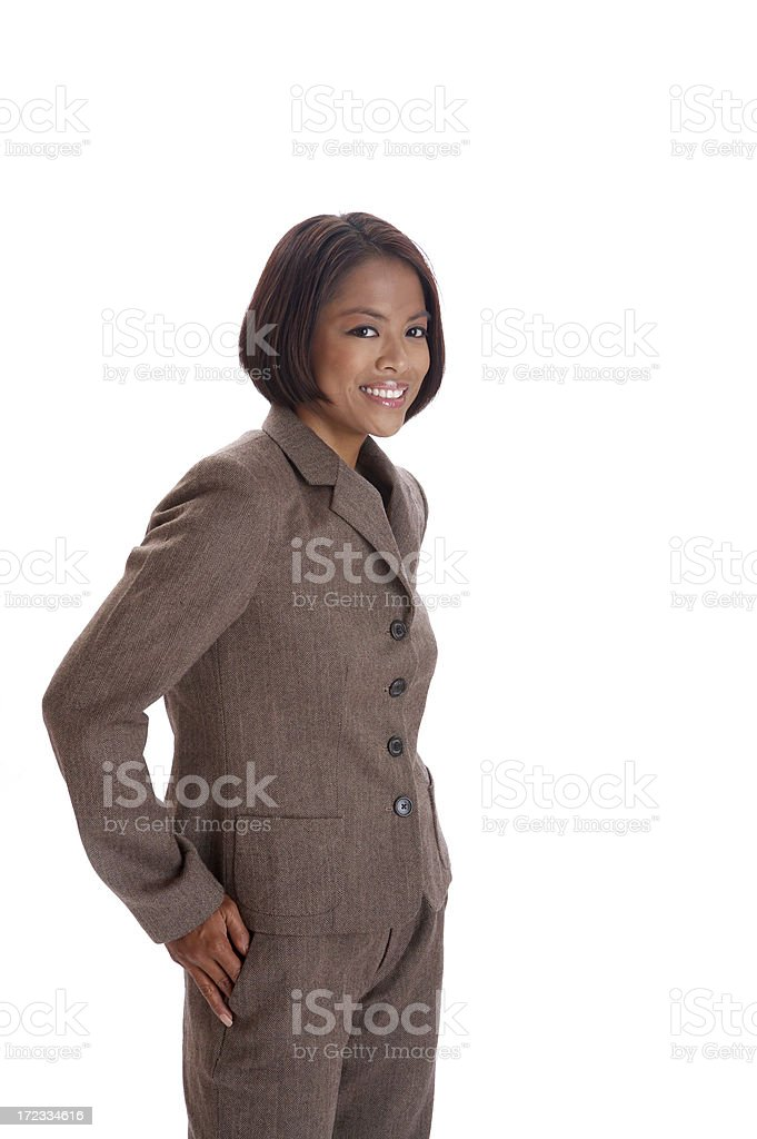 Asian woman in suit royalty-free stock photo