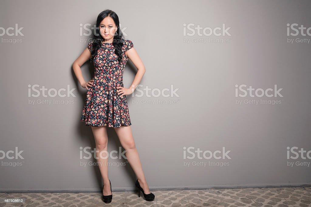 Asian Woman Looking stock photo