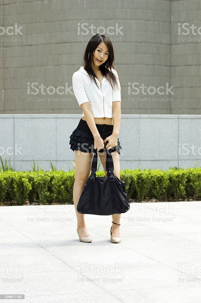 Asian women in short skirts