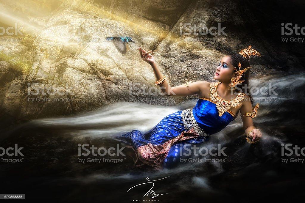Azjatyckie kobieta  zbiór zdjęć royalty-free