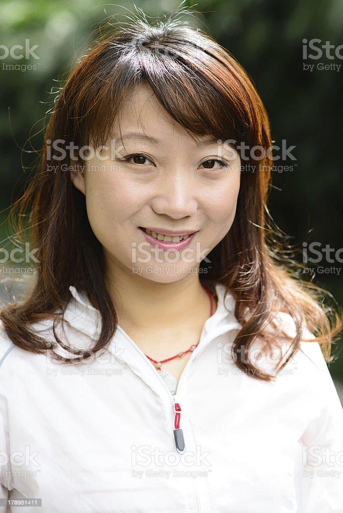 Asian woman portrait royalty-free stock photo