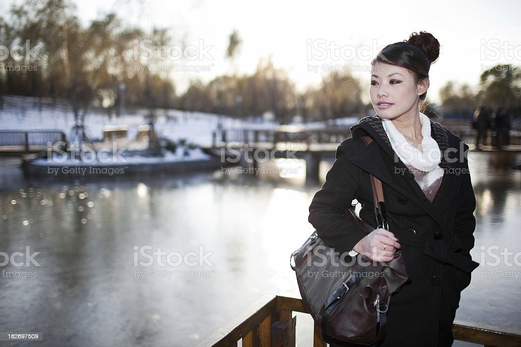 Asian woman posing royalty-free stock photo