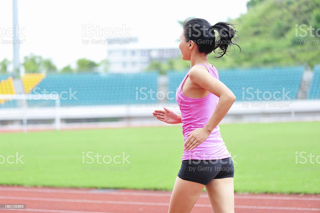 asian woman runner running royalty-free stock photo