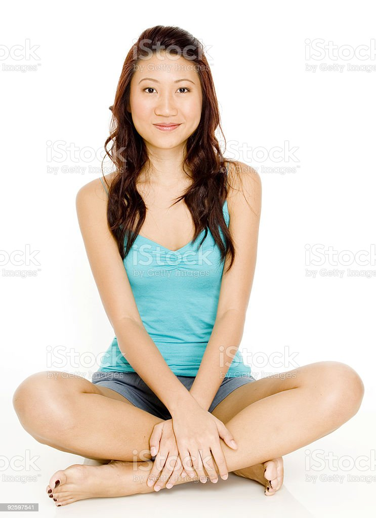 Asian Woman Sitting royalty-free stock photo