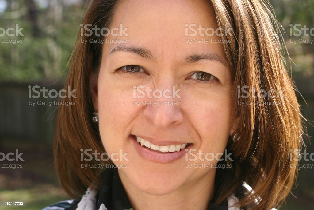 Asian woman smiling royalty-free stock photo