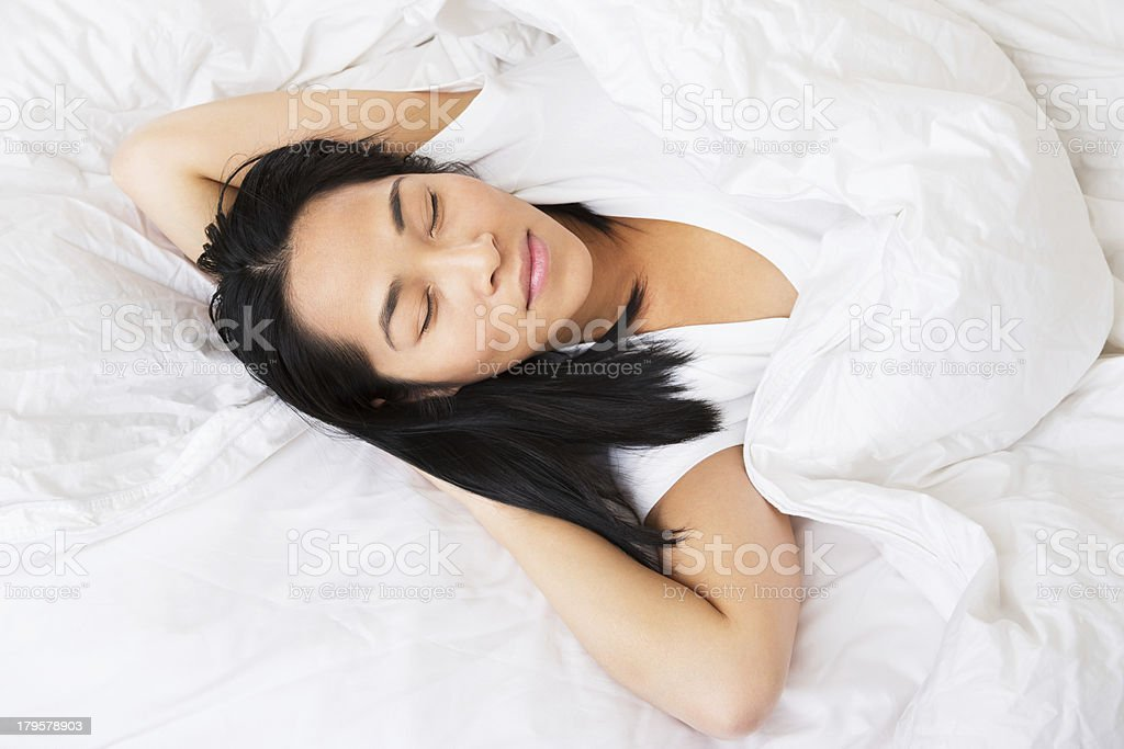 Asian Women Laying In Bed Stock Photo  More Pictures Of 30-34 Years  Istock-4965