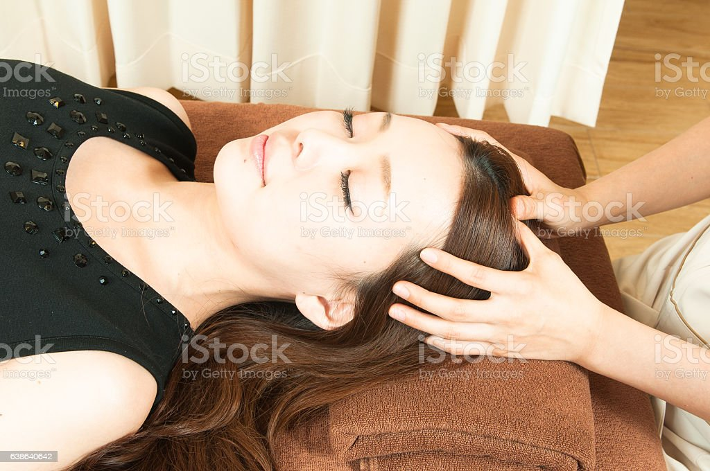 Asian women's spa stock photo