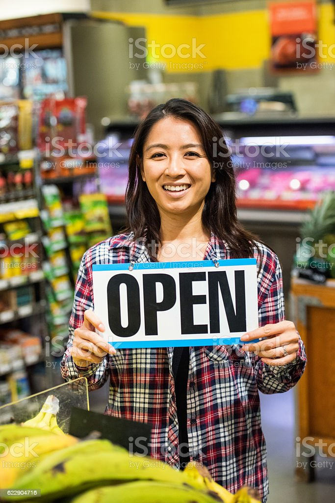 Asian Young Business Owner stock photo