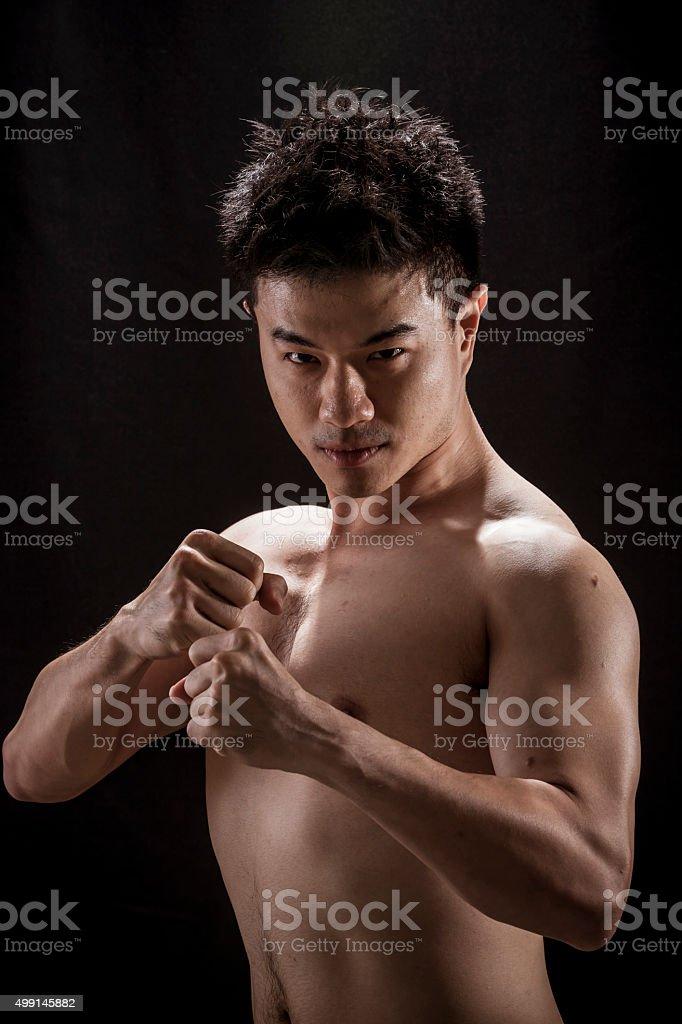 Asian Young man stock photo