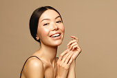 Asian young woamn portrait. Skin care,Beauty treatment and spa concept.