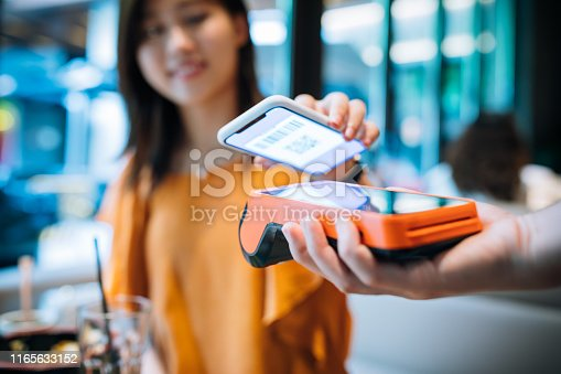 Mobile Payment, Women, Contactless Payment,China - East Asia, Shanghai, 20-29 Years, Paying, Banking