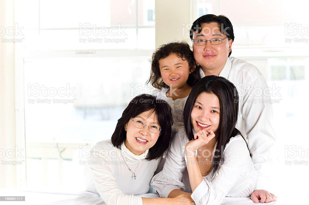 Asian-American Family Portrait stock photo