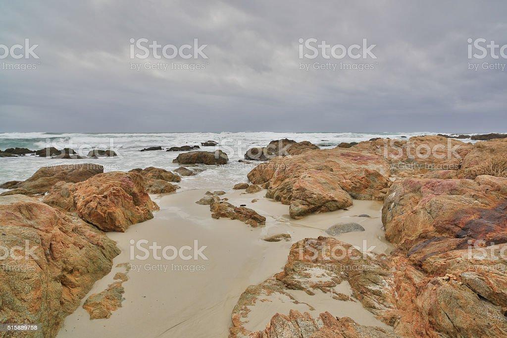 Asilomar State Beach, Monterey Peninsula, Central California stock photo