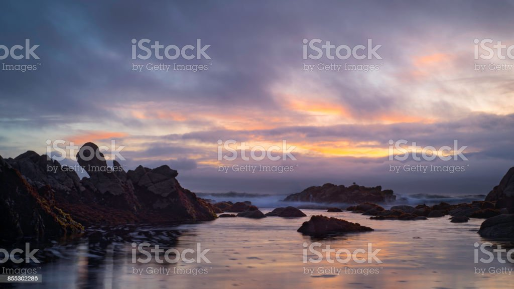 Asilomar Sunset 01 stock photo