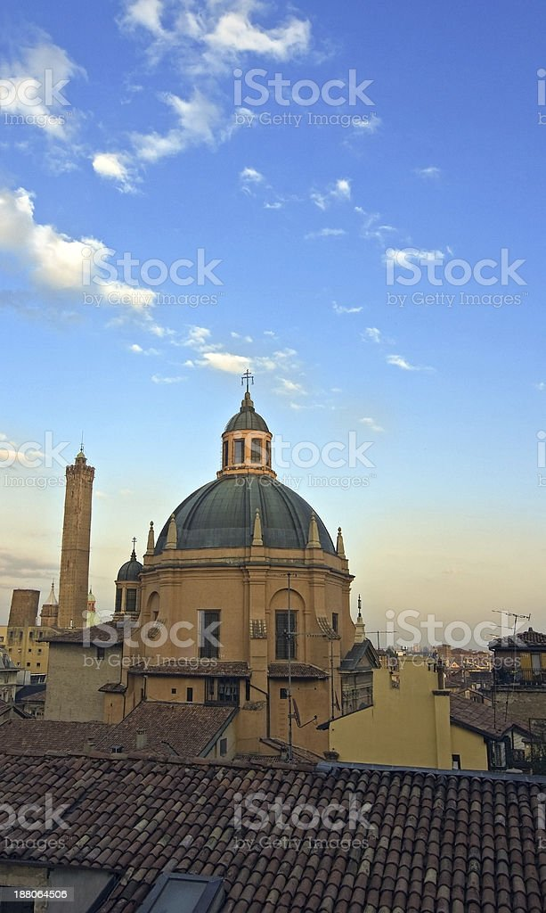 asinelli tower - bologna stock photo