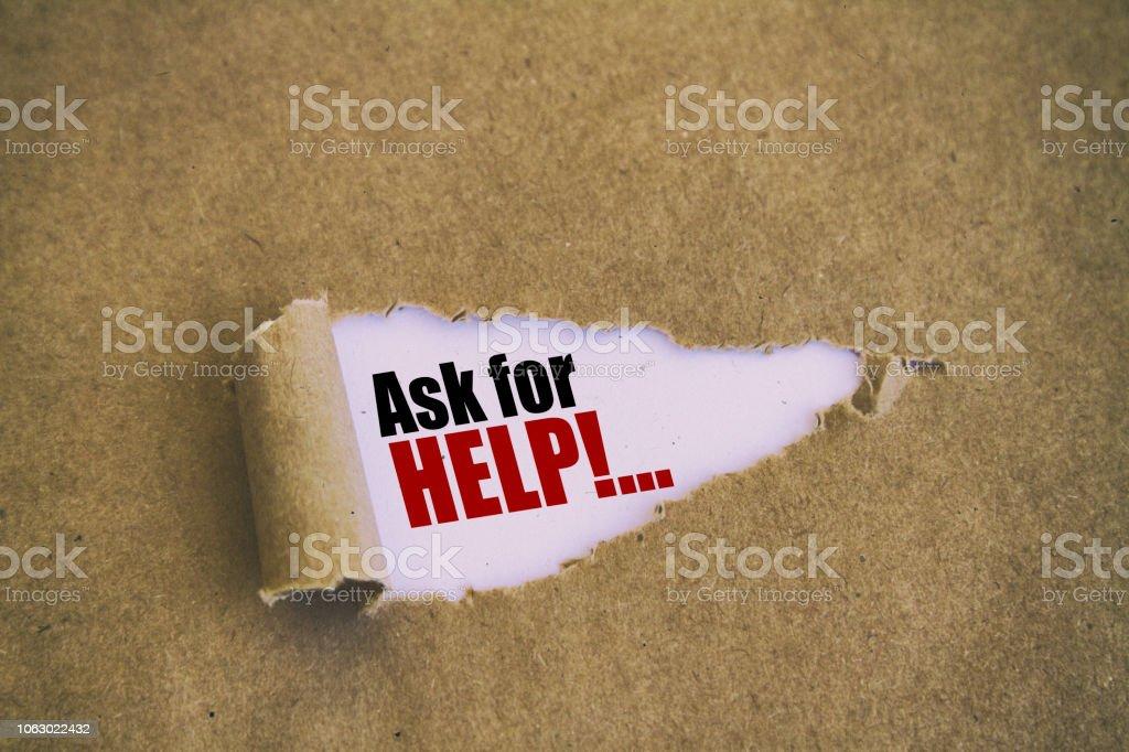 Yardım isteyin stok fotoğrafı