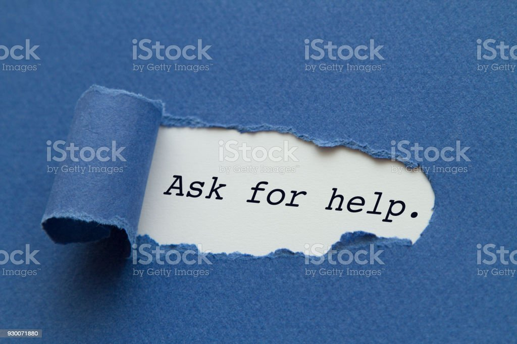 Ask for help stock photo