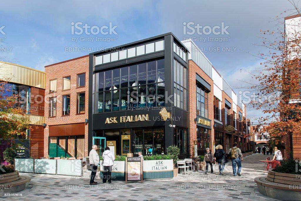 Ask Italian stock photo