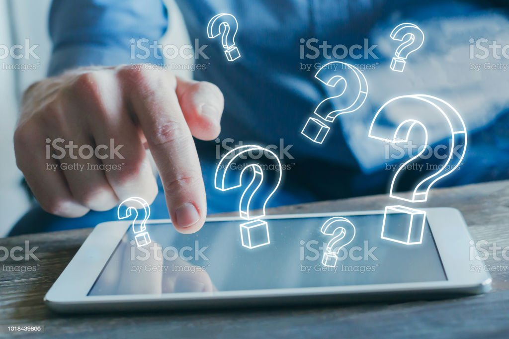 ask questions, FAQ, what where why who stock photo