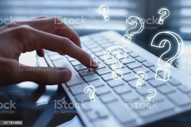 Fragen Sie Quiestion Online Faqkonzept Was Wo Wie Und Warum Stockfoto und mehr Bilder von Abstrakt