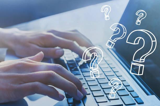 faq, fragen, quiestion online, was wo wann wie und warum, suchen informationen. - sucht stock-fotos und bilder