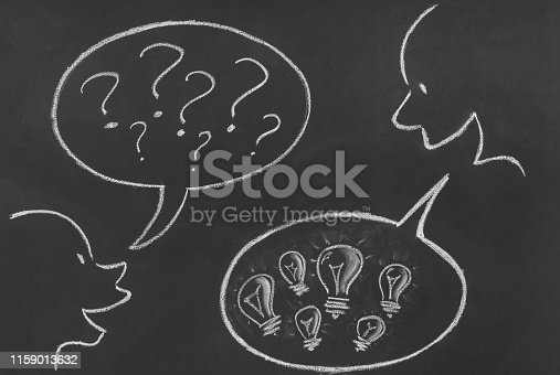 185325970 istock photo Asking and Solution Concept 1159013632