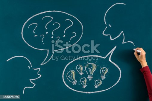 185325970 istock photo Asking and Solution Concept 185325970