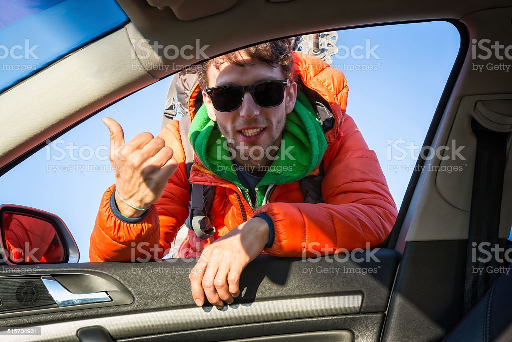 asking for a lift stock photo