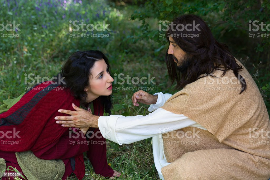 Asking  for forgiveness stock photo